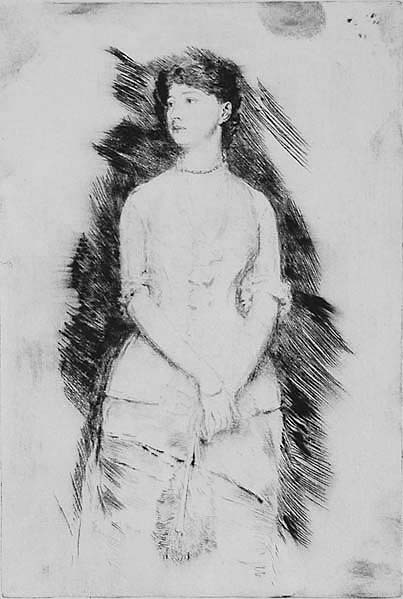Portrait of Lady Colin Campbell - FRANK DUVENECK - drypoint