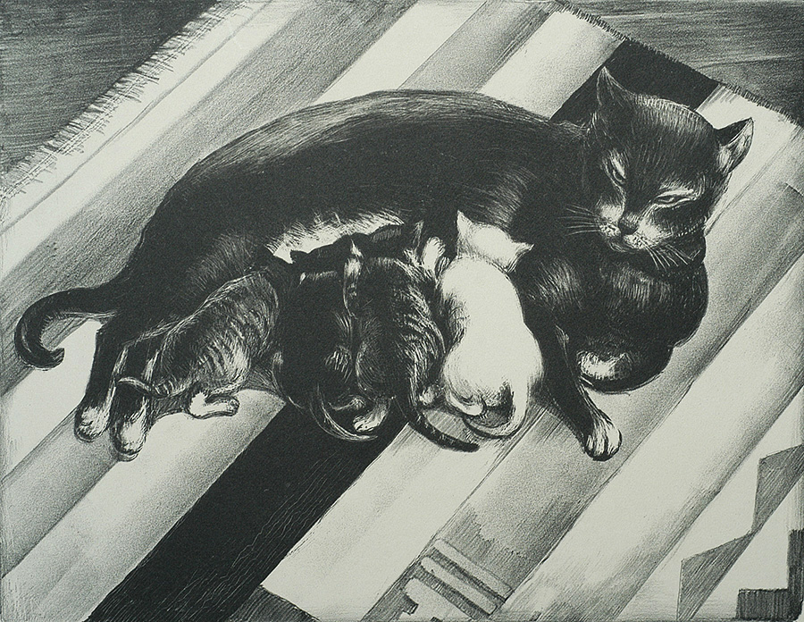 The Family - MABEL DWIGHT - lithograph