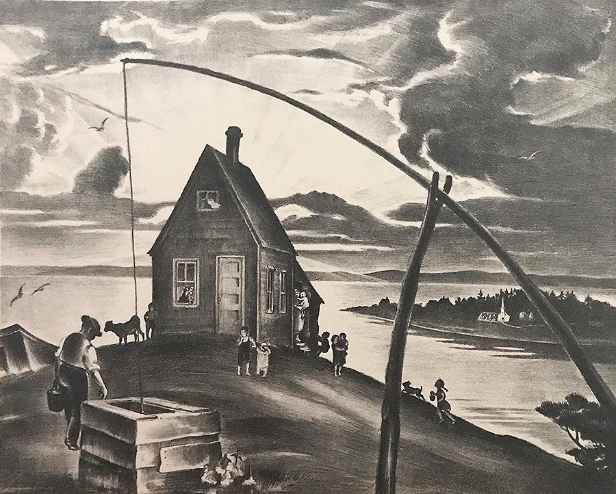 Nova Scotia - MABEL DWIGHT - lithograph