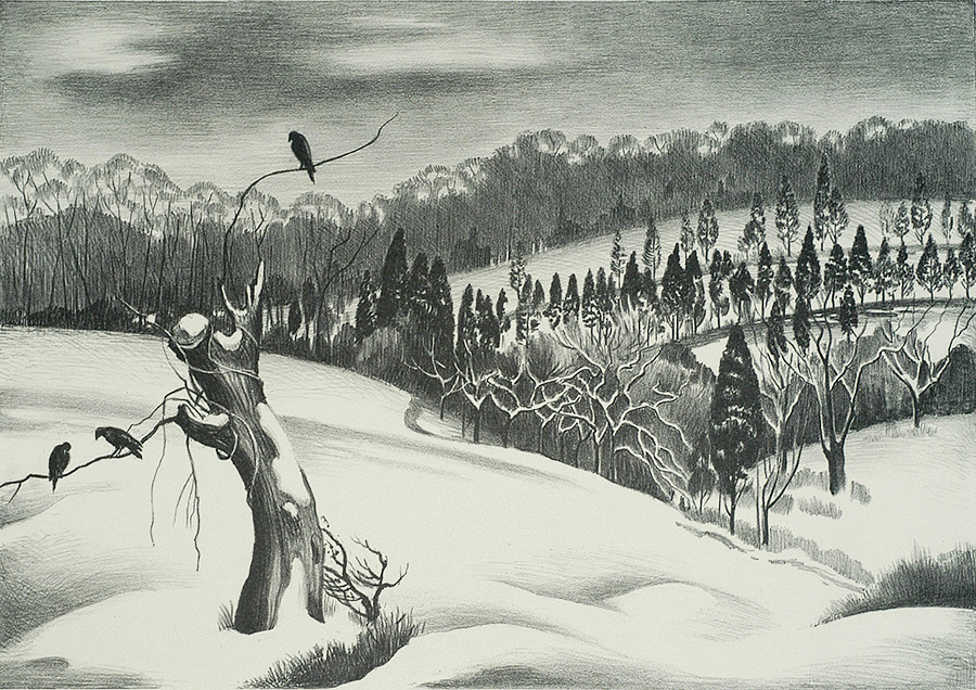 Winter - MABEL DWIGHT - lithograph