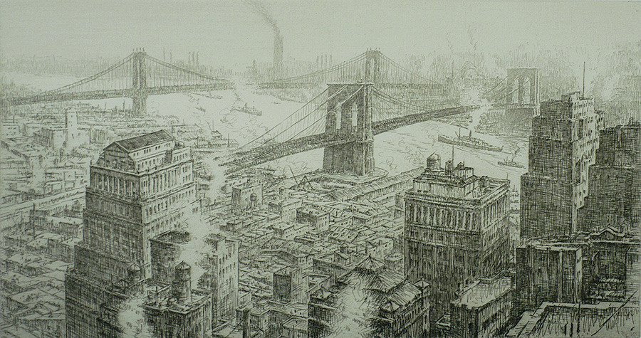 Two Bridges  - KERR EBY - etching