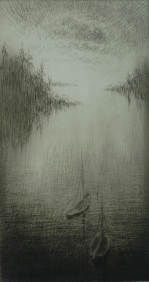 Night, High Island, Maine - KERR EBY - etching