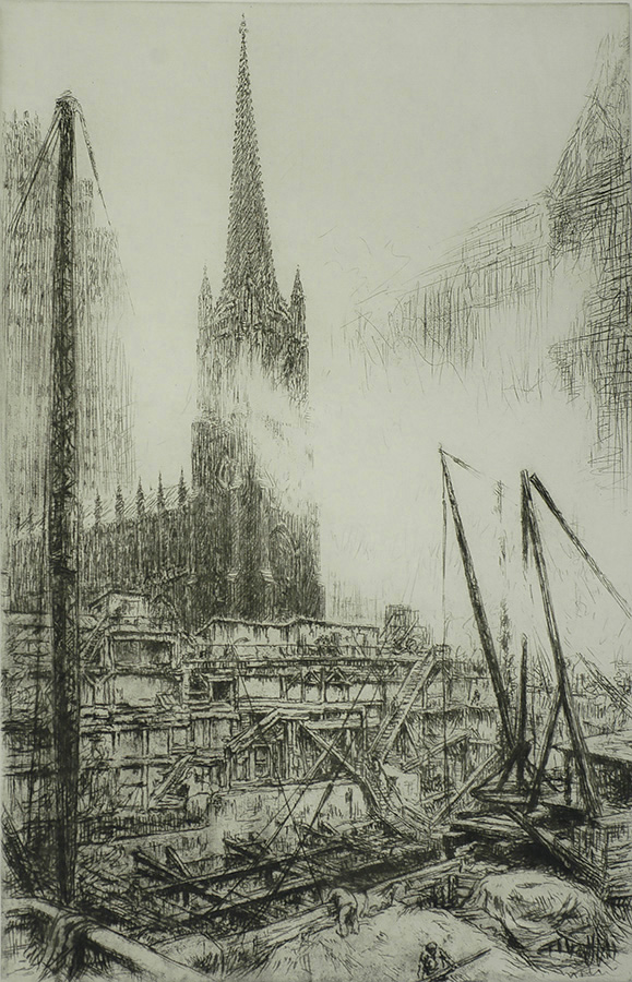 No. 1 Wall Street (New York) - KERR EBY - etching