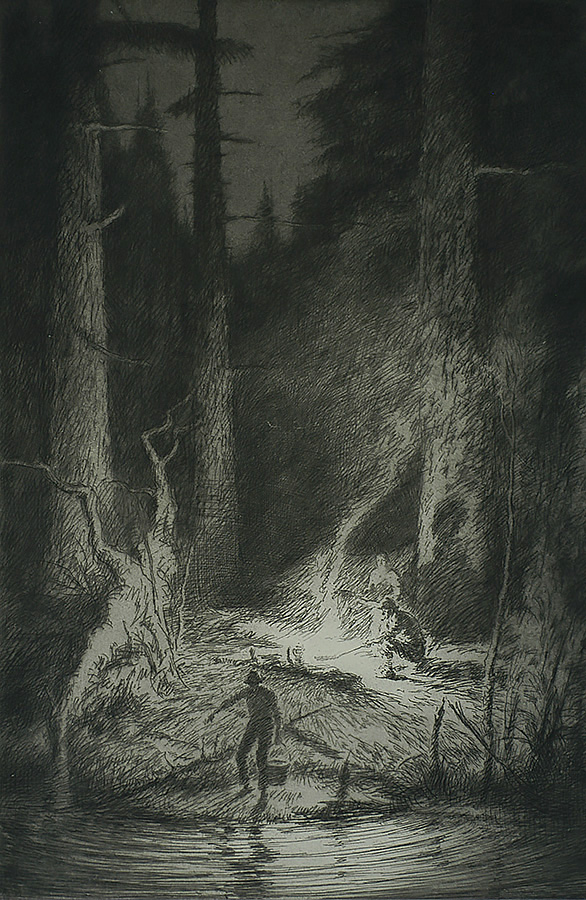 Light in the Woods - KERR EBY - etching and aquatint