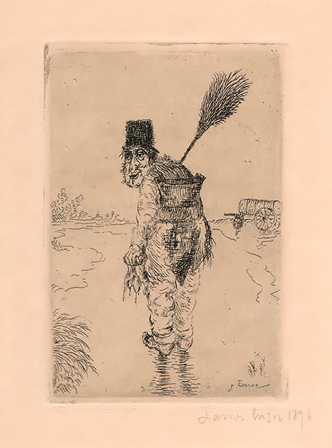 The Scavenger (Le Vidangeur) - JAMES ENSOR - etching