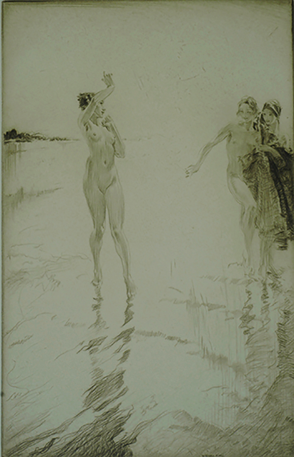 Eve - WILLIAM RUSSELL FLINT - etching and drypoint