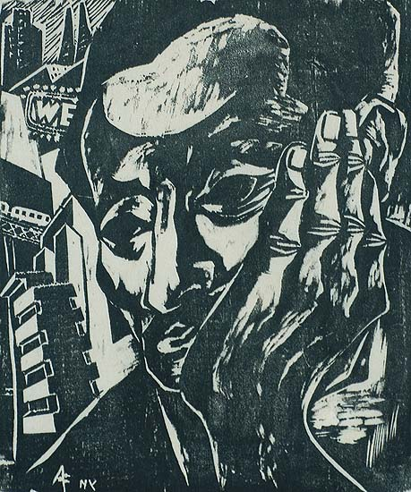 Self Portrait - ANTONIO FRASCONI - woodcut