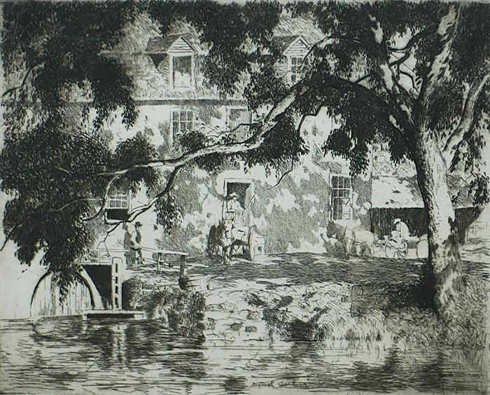 Holcomb's Mill - DANIEL GARBER - etching