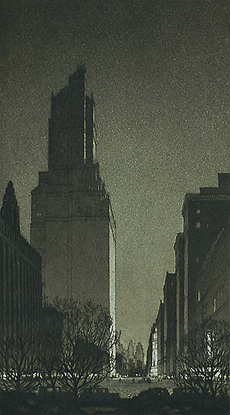 Black Magic, New York, 1928 - GERALD GEERLINGS - etching and aquatint