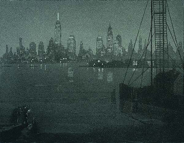 Civic Insomnia (New York) - GERALD GEERLINGS - aquatint