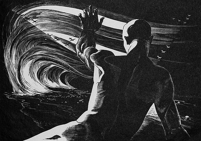 Let the Living Rise - LEON GILMOUR - wood engraving