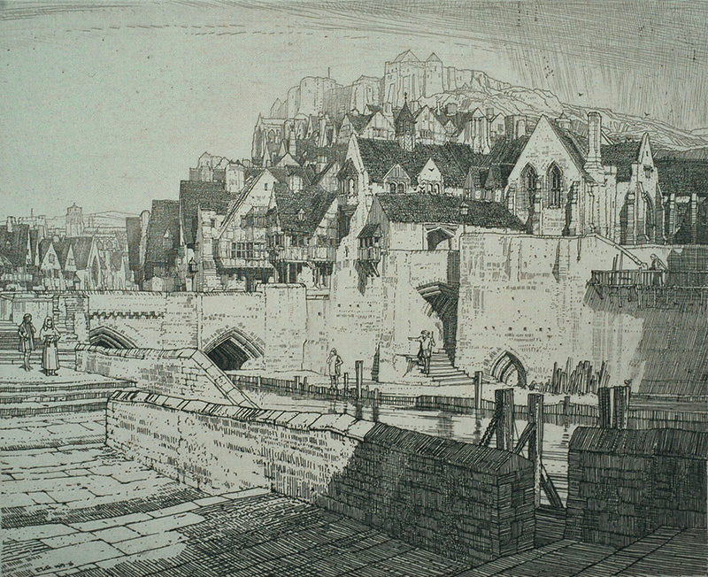 The Quay - FREDERICK L. GRIGGS - etching