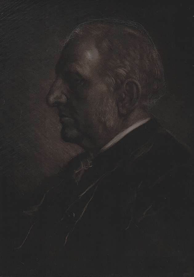 Portrait of Sir Seymour Haden - ALPHONSE LEGROS - mezzotint (with additions in pencil by Legros)