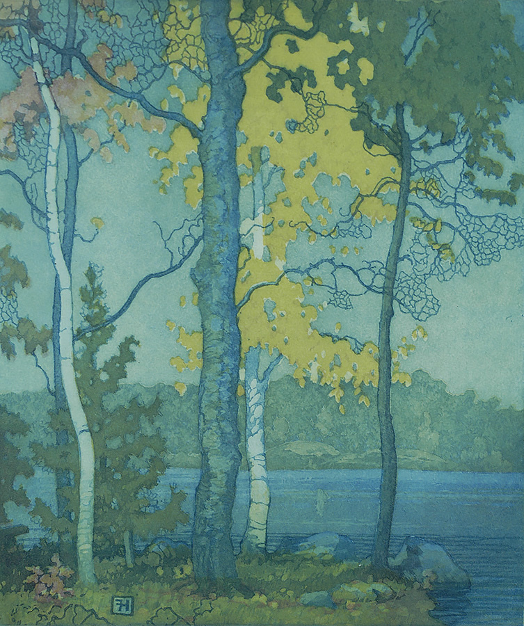Bass Bay  - FRED S. HAINES - etching and aquatint printed in colors