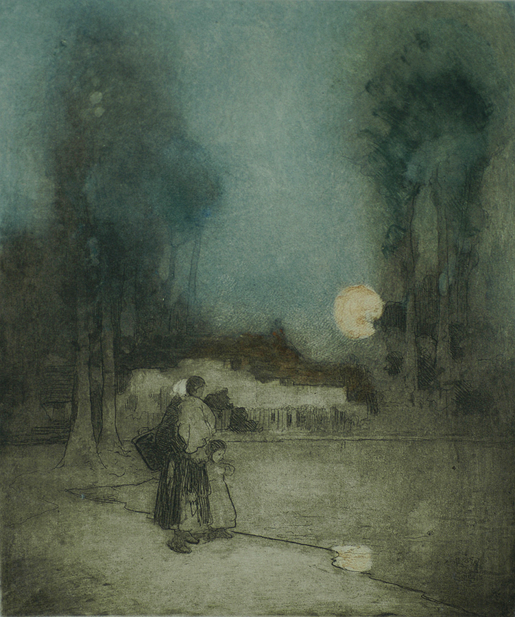 The Summer Moon - WILLIAM LEE-HANKEY - etching and aquatint on zinc with cartridge paper ground