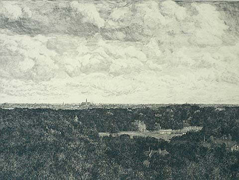 View of Haarlem - GERHARD C. HAVERKAMP - etching