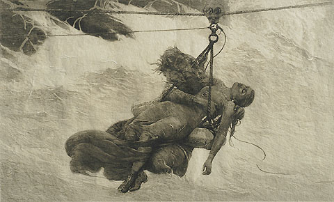 Saved - WINSLOW HOMER - etching