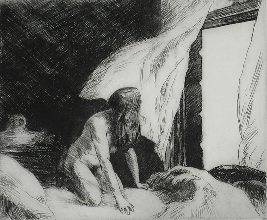 Evening Wind - EDWARD HOPPER - etching