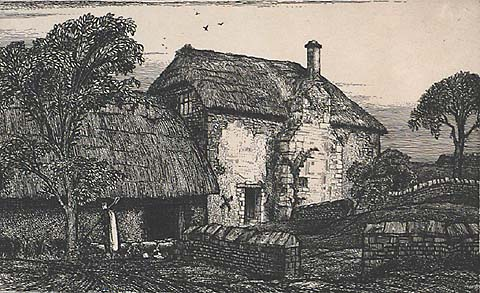 Great Seaside Farm - EDWARD BOUVERIE HOYTON - etching