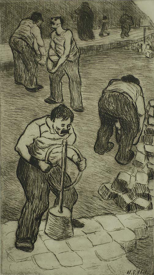 The Pavers (Les Paveurs) - HENRI-GABRIEL IBELS - etching