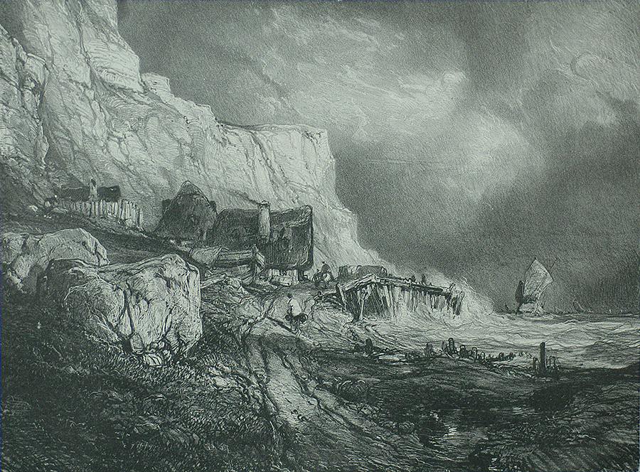Near Dieppe (Environs de Dieppe) - EUGENE ISABEY - lithograph