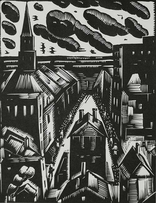 West Side, Chicago - WILLIAM JACOBS - woodcut