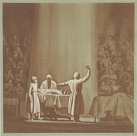 The Clinic - ROCKWELL KENT - lithograph printed with a tint stone