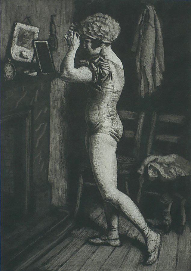 Circus Dressing Room - LAURA KNIGHT - etching and aquatint