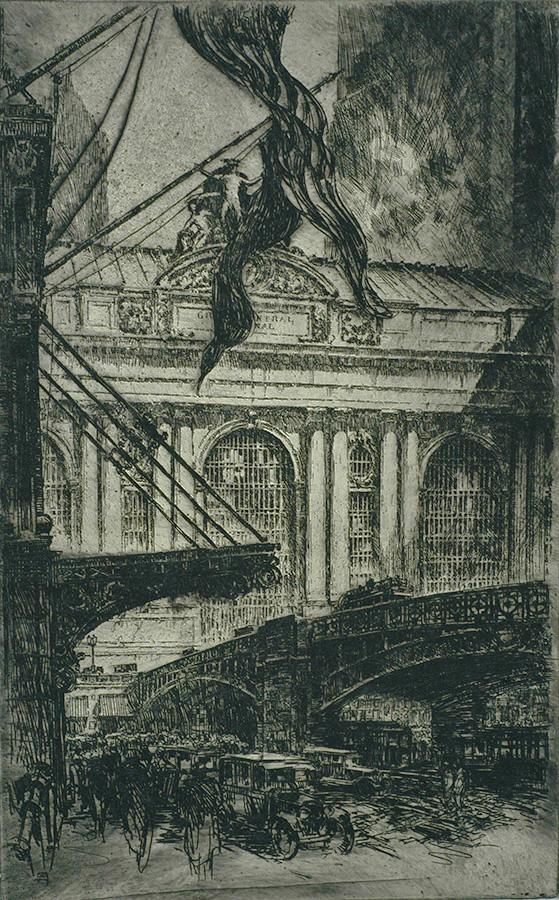 Grand Central Staion - OTTO KUHLER - etching