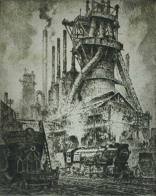 Steel Castles - OTTO KUHLER - etching