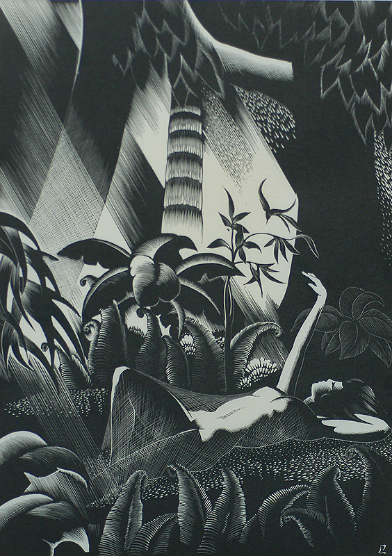 Forest Girl - PAUL LANDACRE - wood engraving