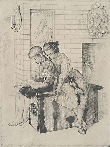 The Picture Book - CARL LARSSON - Etching