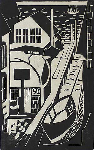 Provincetown Studio - BLANCHE LAZZELL - woodcut