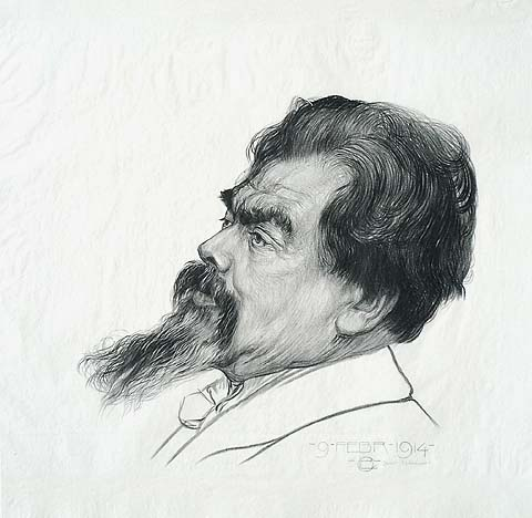 Portrait of Jan Toorop - CHRIS LEBEAU - lithograph