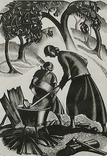 Apple Butter - CLARE LEIGHTON - wood engraving