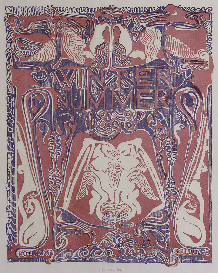 Winter Nummer (Winter Issue) - CARL ADOLPH  LION CACHET - lithograph printed in colors