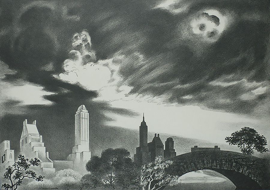 Angry Skies (Andante Cantabile) - LOUIS LOZOWICK - lithograph