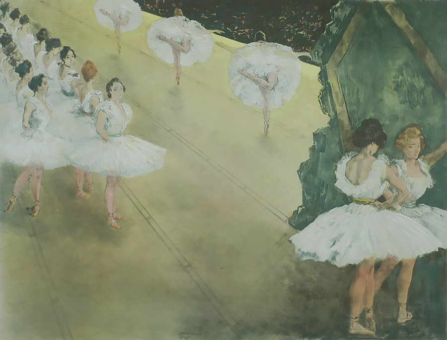 Le Ballet - ALEXANDRE LUNOIS - lithograph printed in colors