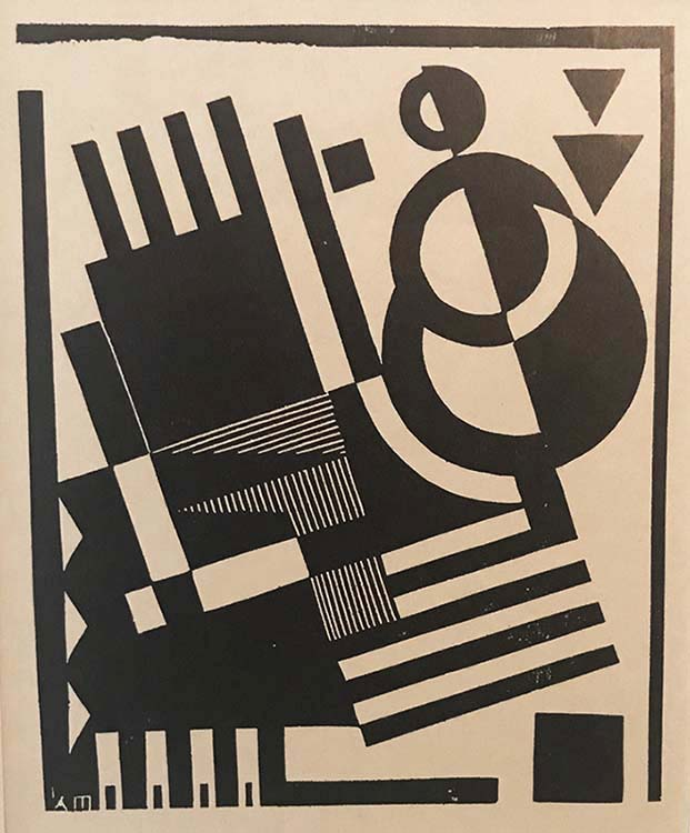 Composition # 12 - KAREL MAES - linoleum cut