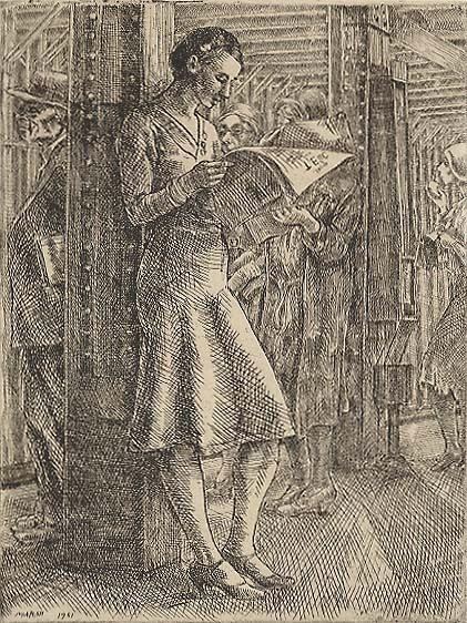 Joan (The Tabloid) - REGINALD MARSH - etching