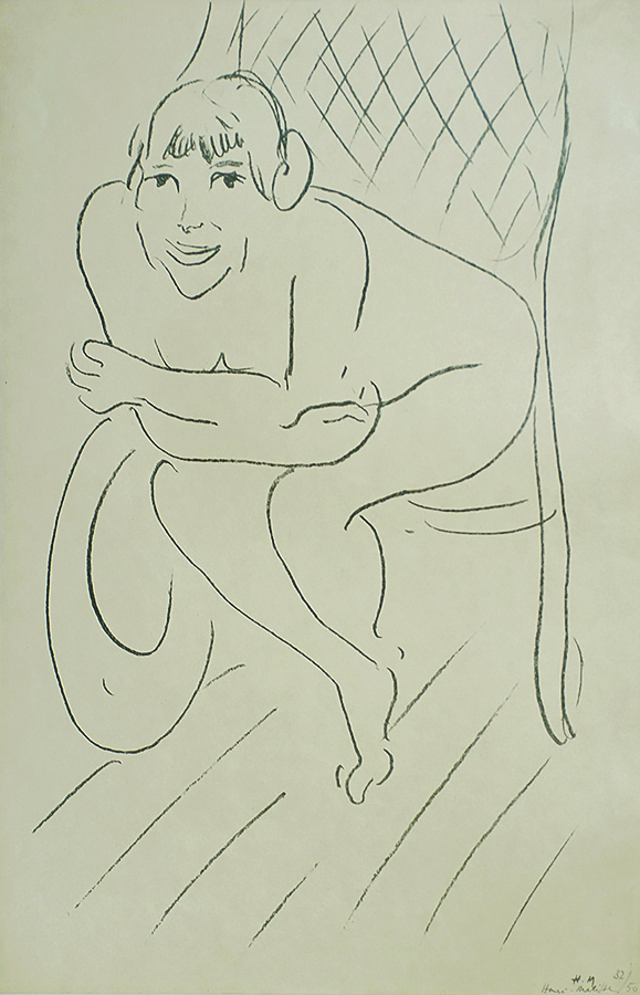 Nude in a Rocking Chair (Nu au Rocking Chair) - HENRI MATISSE - lithograph