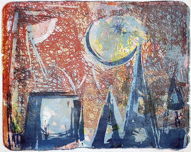 Points of Departure - DOROTHY MCCRAY - lithograph
