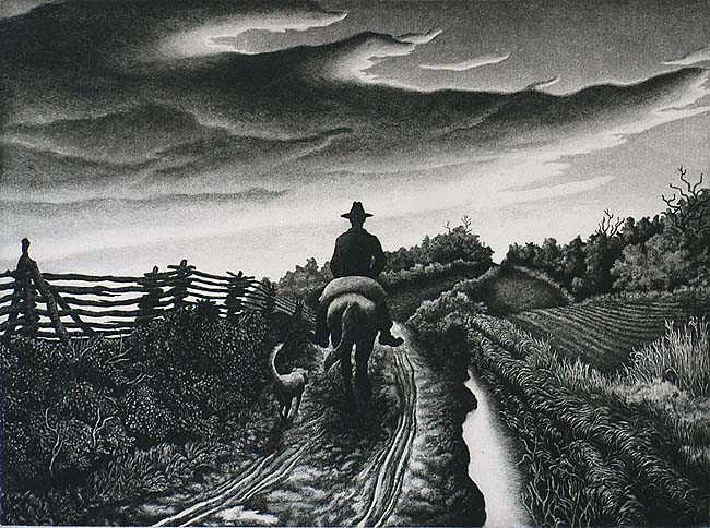November Evening - JACKSON LEE NESBITT - etching