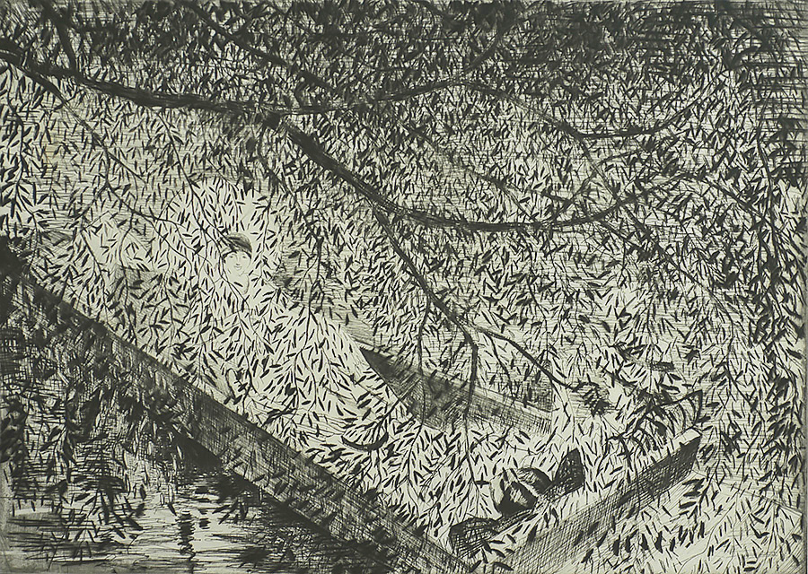 Summer - CHRISTOPER R.W. NEVINSON - drypoint and etching