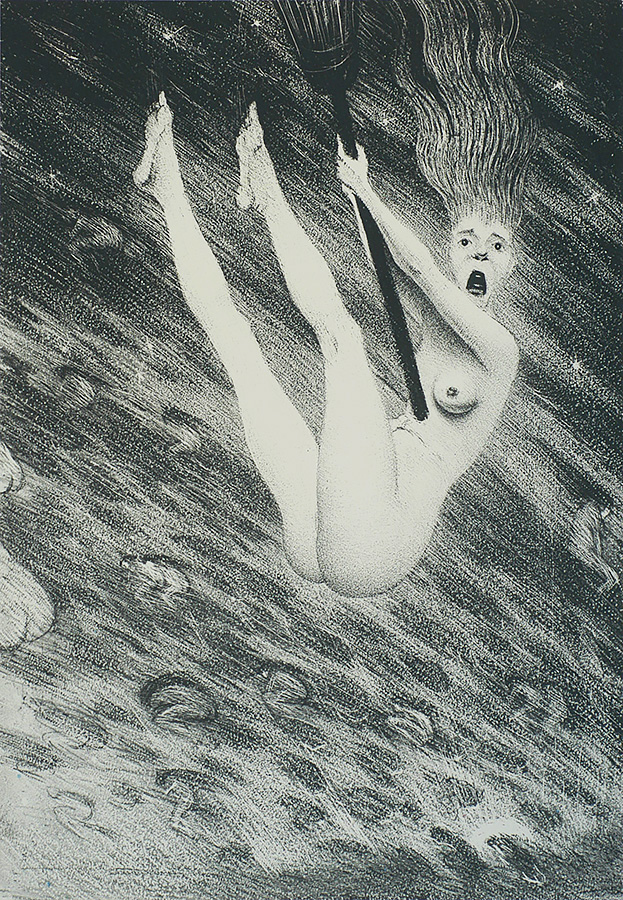 An Inexperienced Witch - CHRISTOPER R.W. NEVINSON - lithograph