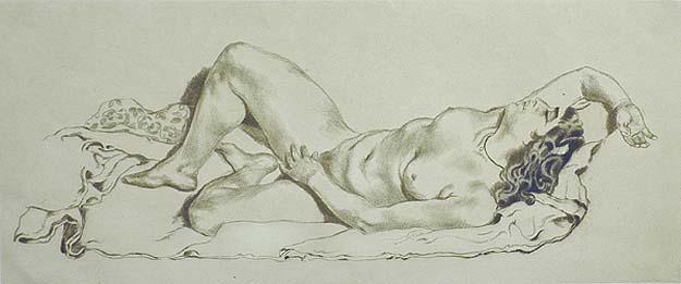 Reclining Female Nude (Liegender Weiblicher Akt) - EMIL ORLIK - drypoint & Reclining Female Nude (Liegender Weiblicher Akt) - EMIL ORLIK ... islam-shia.org