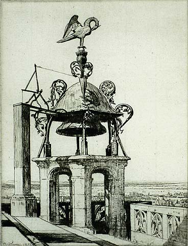 The Bird of Bourges - MALCOLM OSBORNE - etching
