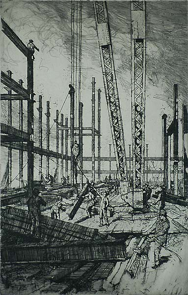 Structural Iron - RALPH PEARSON - etching