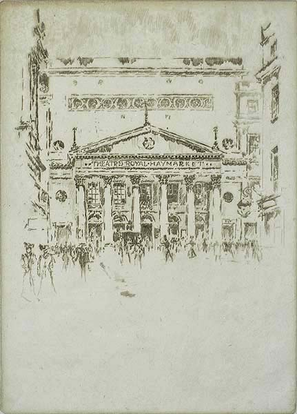 Royal Haymarket Theatre (London) - JOSEPH PENNELL - etching