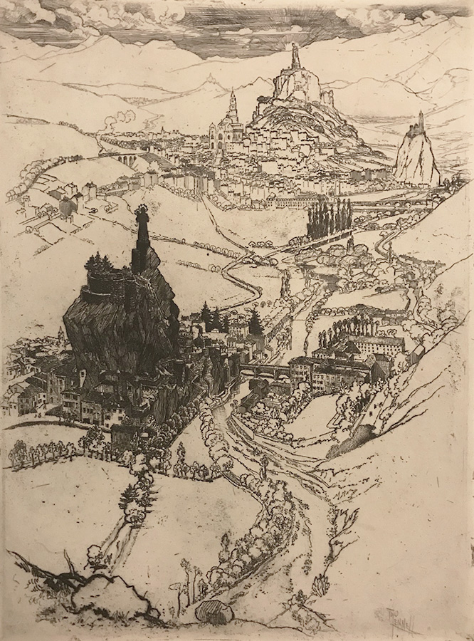 Le Puy (third plate) - JOSEPH PENNELL - etching